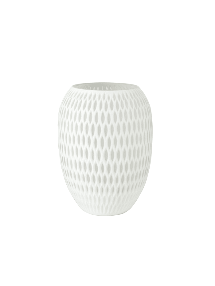 Goebel Goebel Vase White Carved, Antikweiss