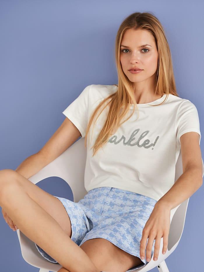 T-Shirt mit Caviarprint