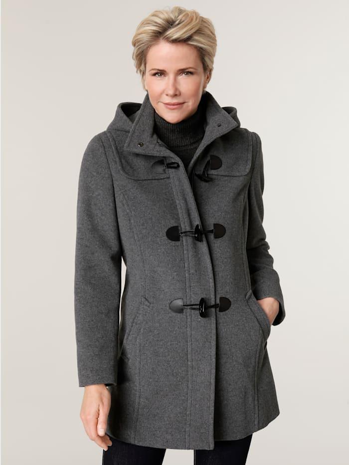 MONA Duffle-coat avec capuche, Gris