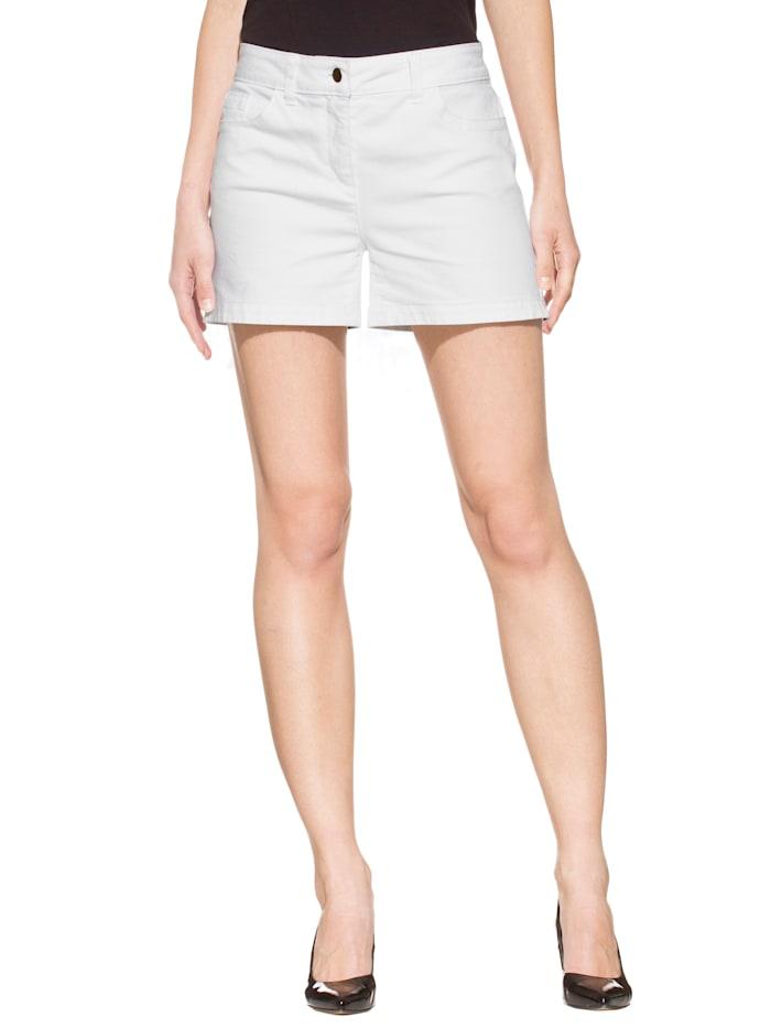 Alba Moda Short de coupe 5 poches, Blanc