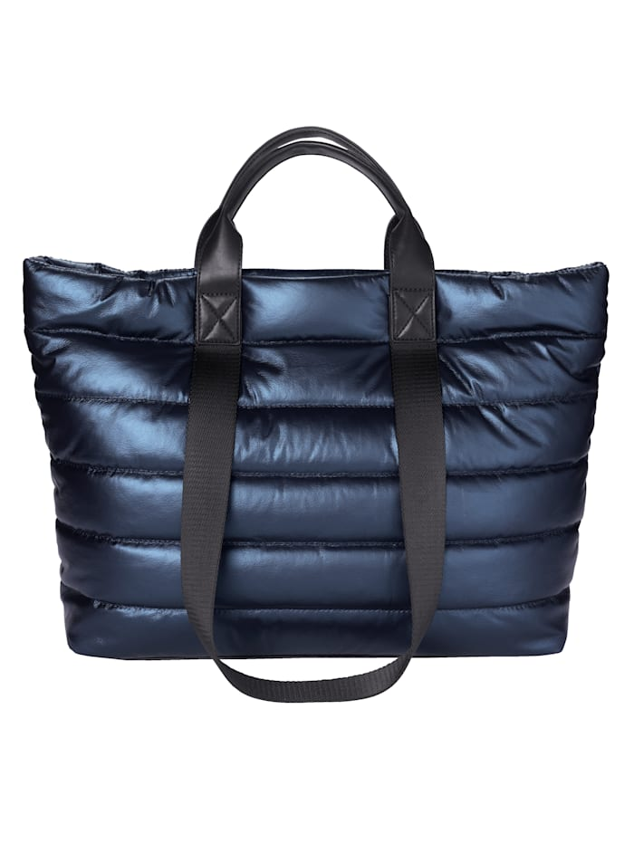 Gabor Shopper in metallic look, metallic blauw