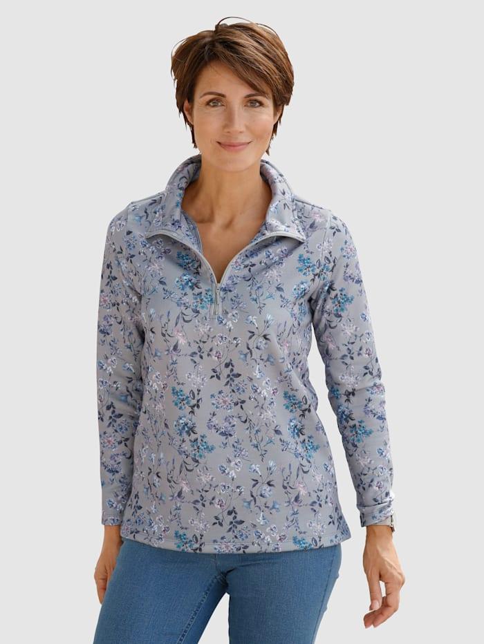 Paola Sweat-shirt à motif floral, Gris