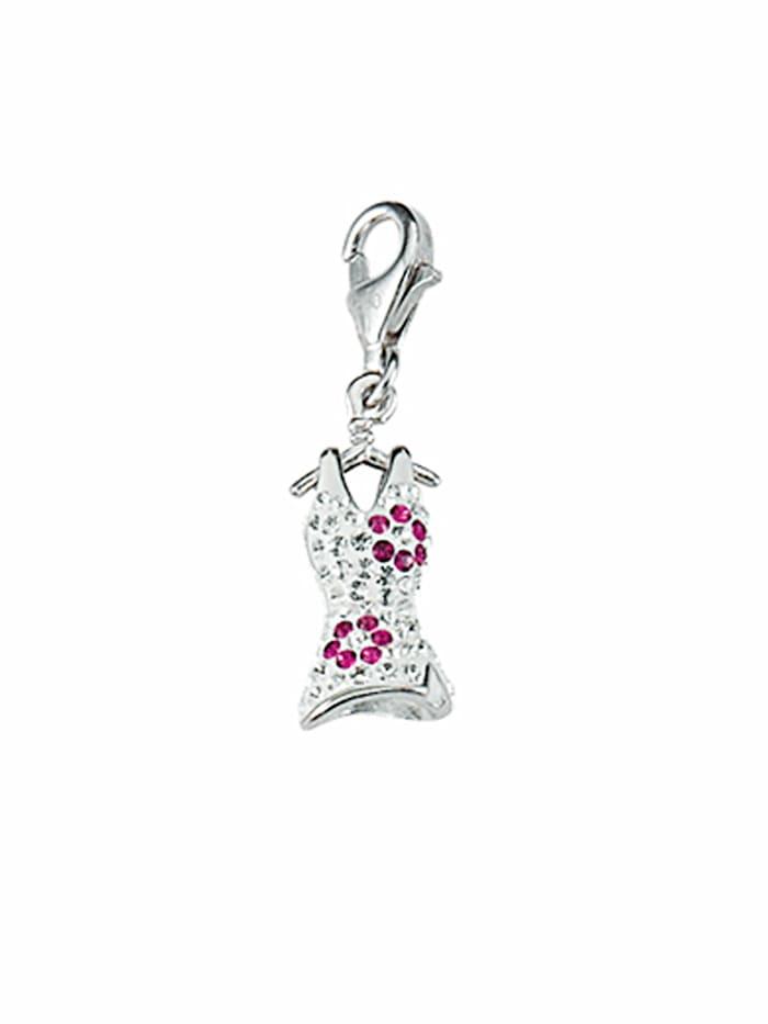 1001 Diamonds 1001 Diamonds Damen Silberschmuck 925 Silber Charms Anhänger Kleid mit Glasstein, bunt/multi