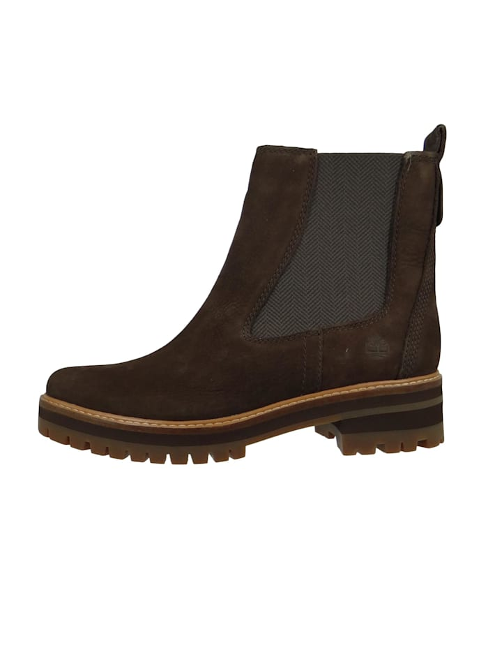 A23WU Courmayeur Valley Chelsea Boot Damen Leder Stiefelette Dark Brown Nubuck Braun
