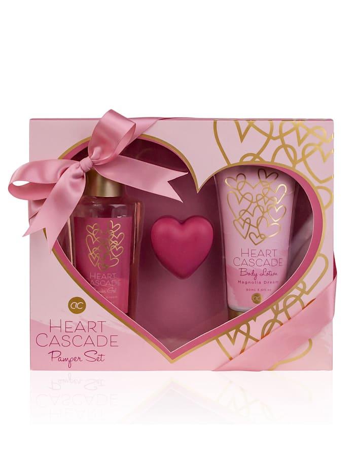 "Accentra Badeset ""HEART CASCADE"" In einer tollen Geschenkbox, Multicolor"