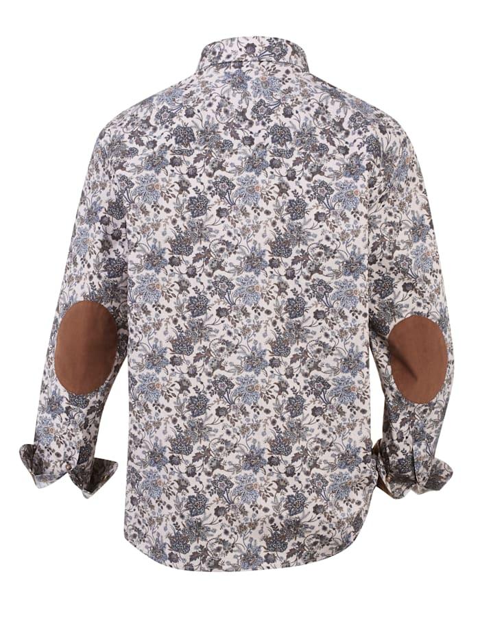 Overhemd met modieuze elleboogstukken