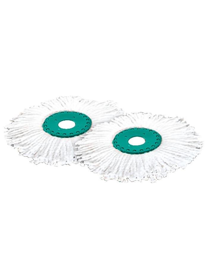 2er-Set Ersatz-Wischmop-Aufsätze für Boden-Wischmop-System 'Clever Spin®'