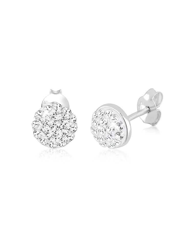 Elli Ohrringe Kugel Kristalle Funkelnd 925 Silber, Weiß