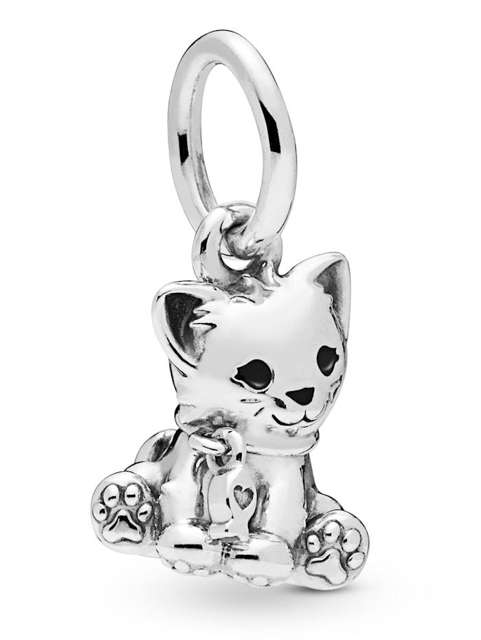 Pandora Charm-Anhänger -Süße Katze- 798011EN16, Silberfarben