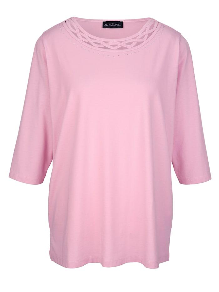 Shirt mit verziertem Ausschnitt