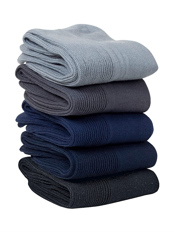 GHZ Chaussettes confortables 5 paires, Bleu