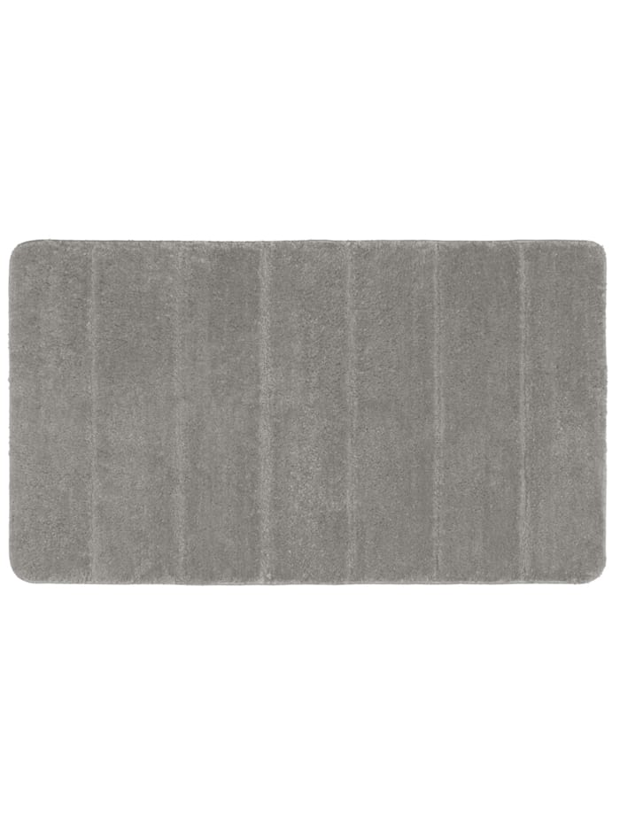 Wenko Badteppich Steps Light Grey, 70 x 120 cm, Mikrofaser, Polyester/Mikrofaser: Grau - Hellgrau