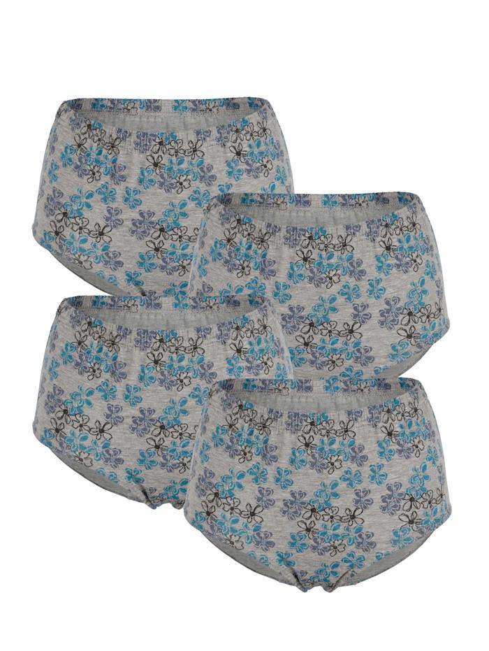 Harmony Painokuvioidut alushousut, 4/pakkaus., Harmaa/Sininen/Musta