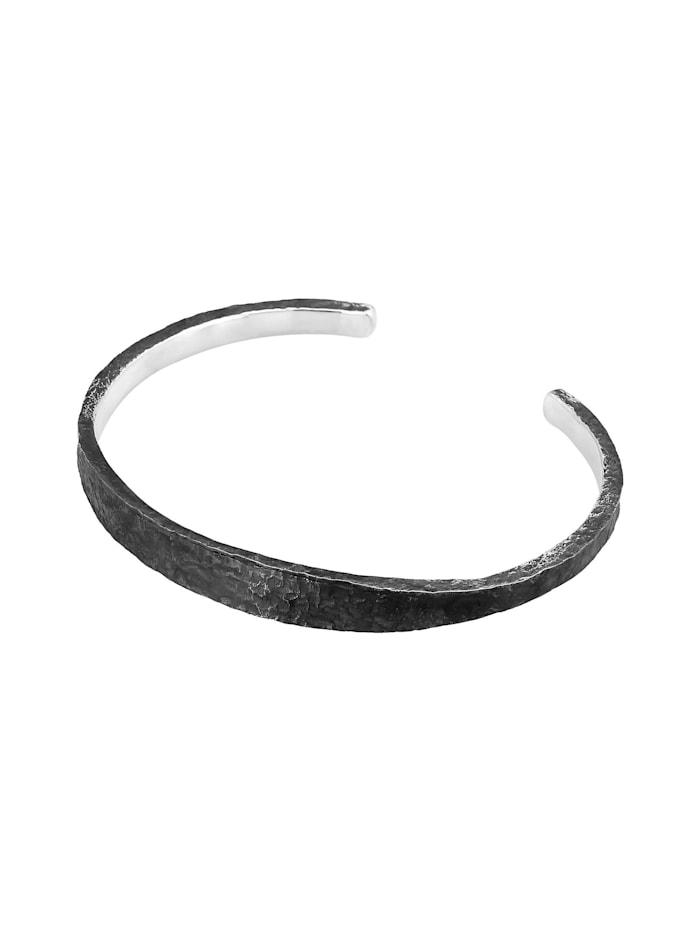 Armband Herren Armreif Handgefertigt Used Look 925 Silber