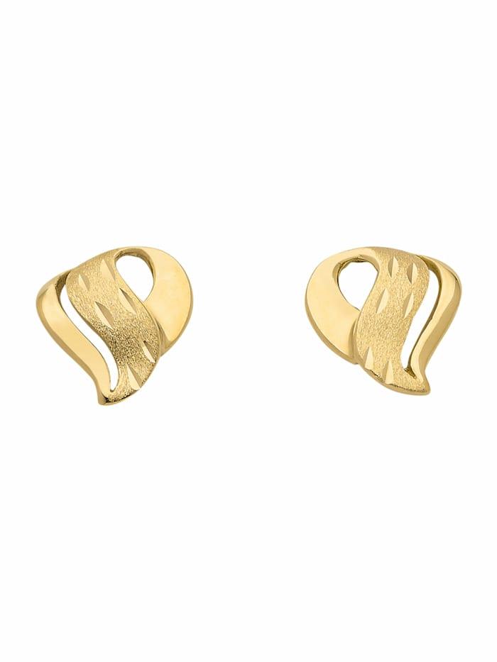 1001 Diamonds Damen Goldschmuck 333 Gold Ohrringe / Ohrstecker, gold