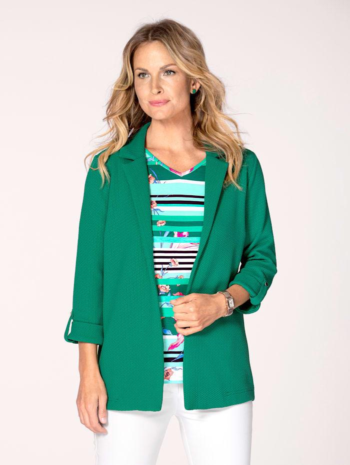 MONA Shirtjacke mit Struktur, Smaragd