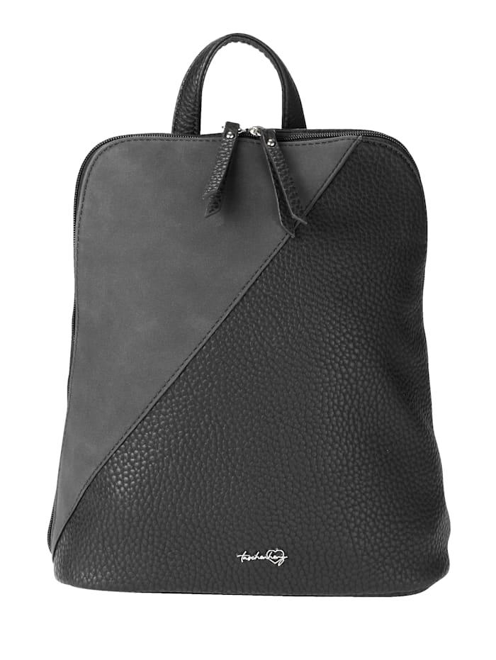 Taschenherz Rucksack aus hochwertigem Softmaterial, schwarz