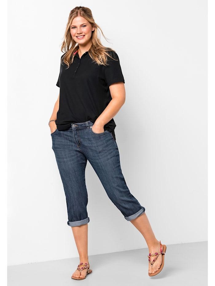 Sheego Capri-Jeans, dark blue Denim
