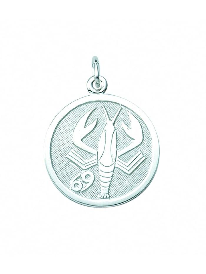 1001 Diamonds Damen & Herren Silberschmuck 925 Silber Sternzeichen Anhänger Krebs Ø 15,7 mm, silber