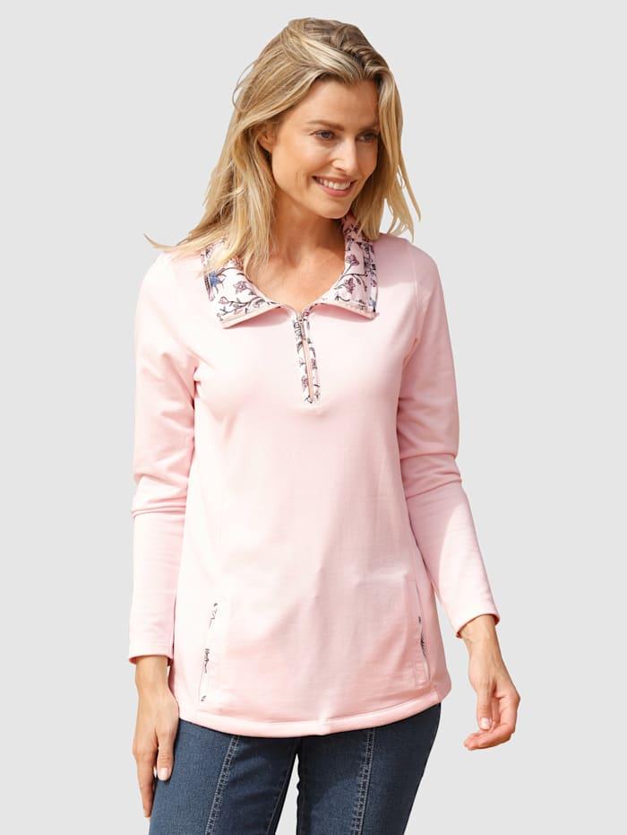 basically you Sweatshirt met gedessineerde inzetten, Roze