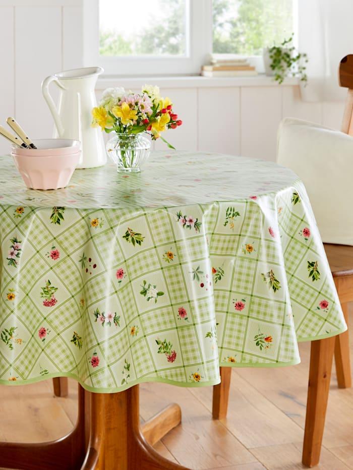 Webschatz Wachstuch Tischwäsche 'Enya', grün