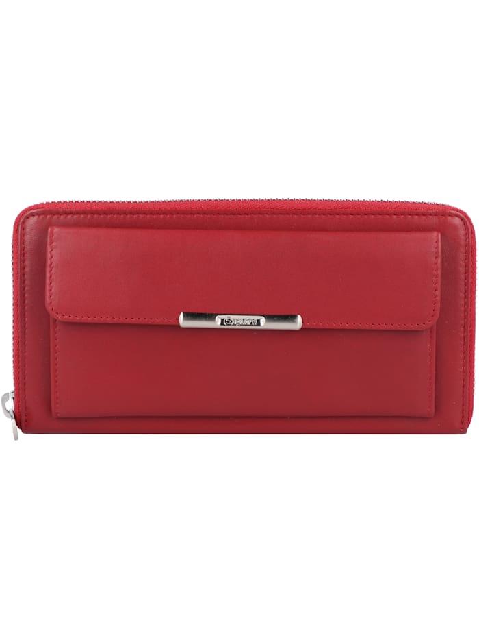 Esquire Helena Geldbörse RFID Leder 19 cm, rot
