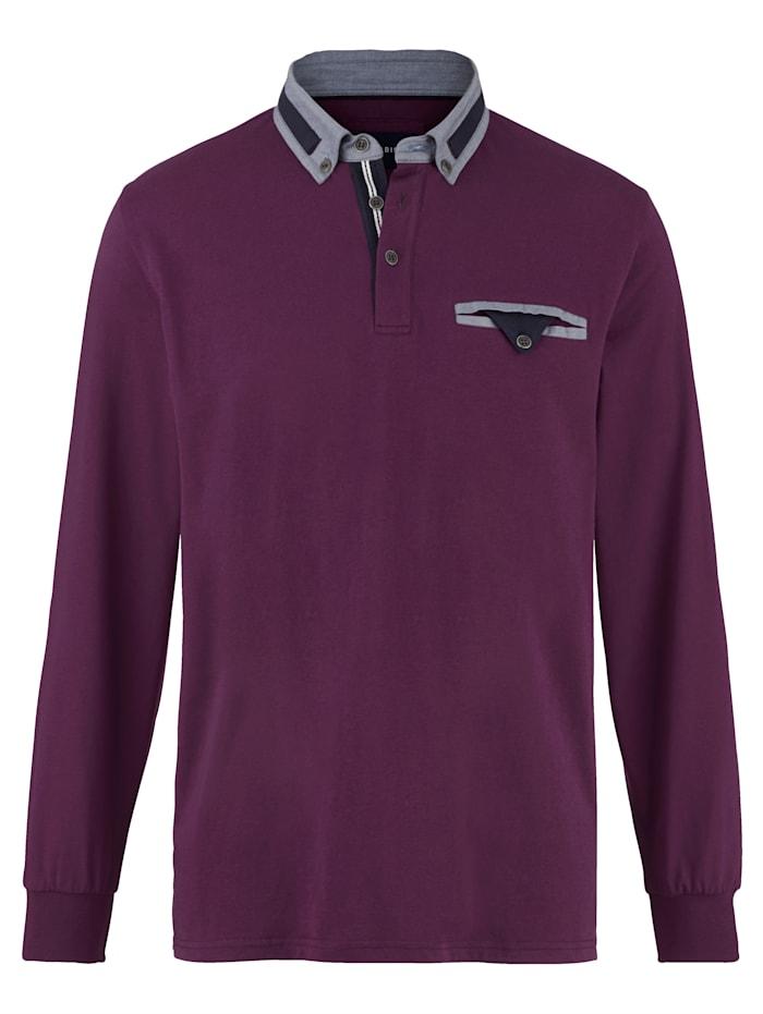 BABISTA Poloshirt met contrastkleurige details, Berry