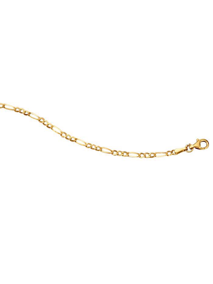 Figaropanzerkette in Gelbgold