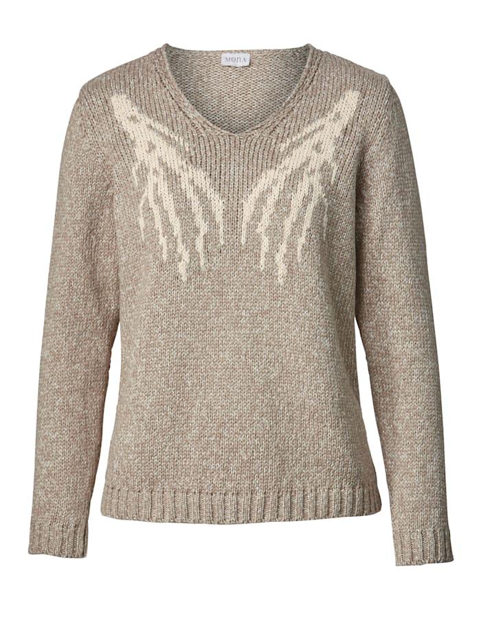 Pullover mit Äste-Jaquard
