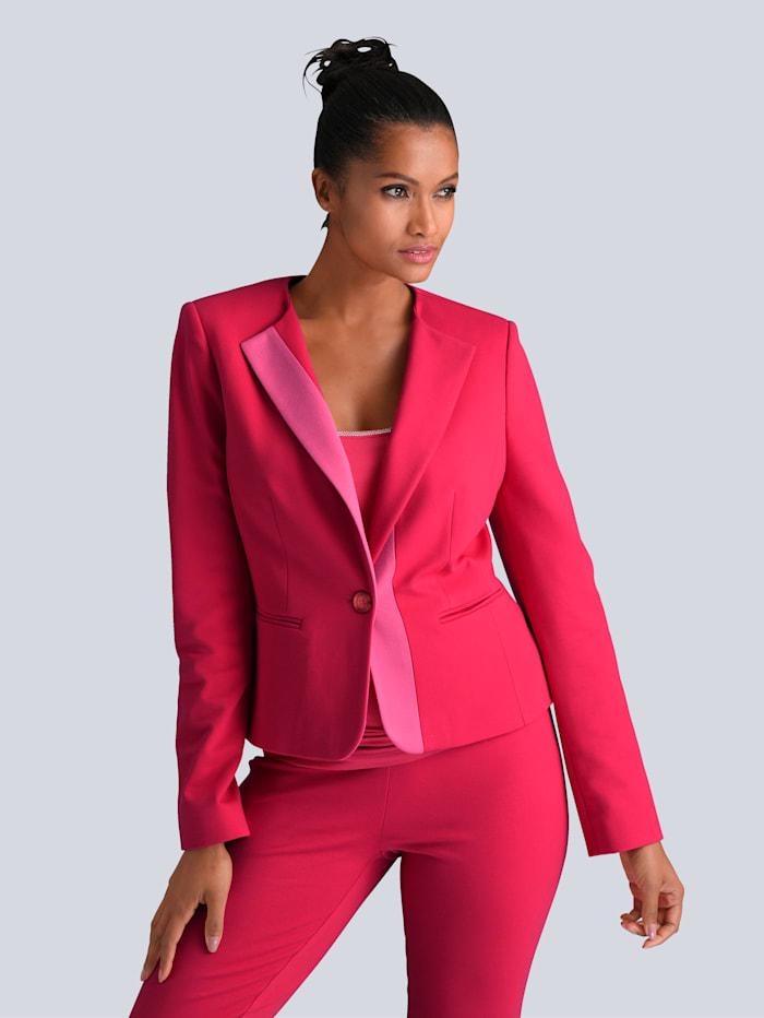 Alba Moda Blazer im modischen Colorblocking, Rot/Pink