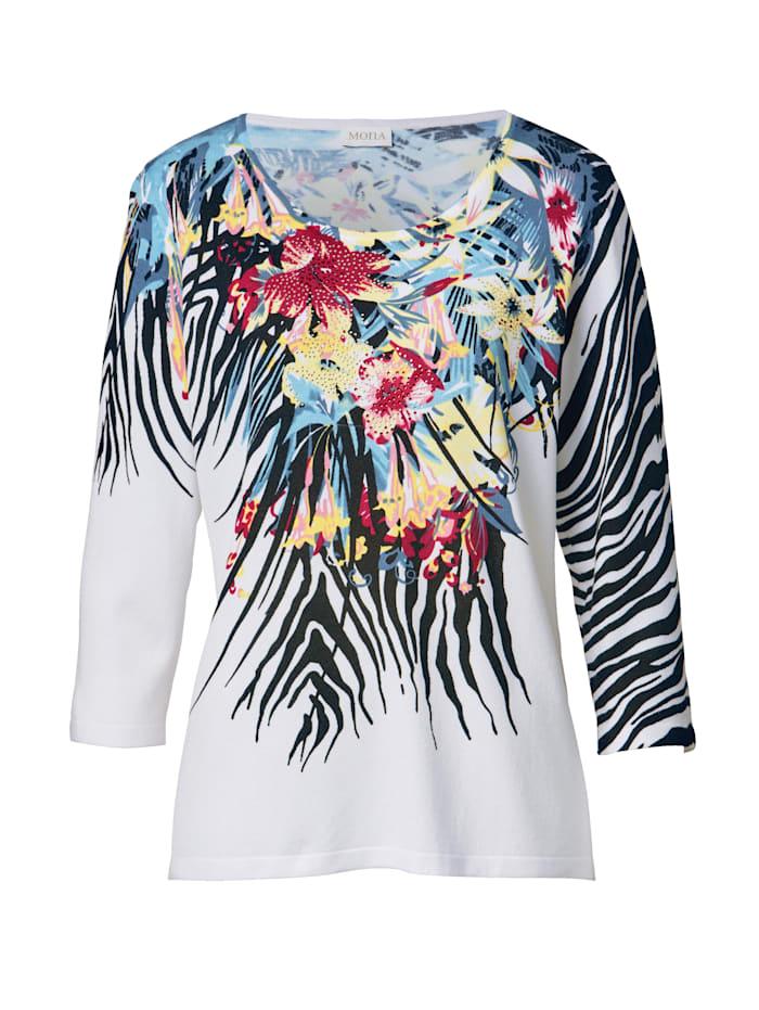 Pullover mit modischem Blütendruck