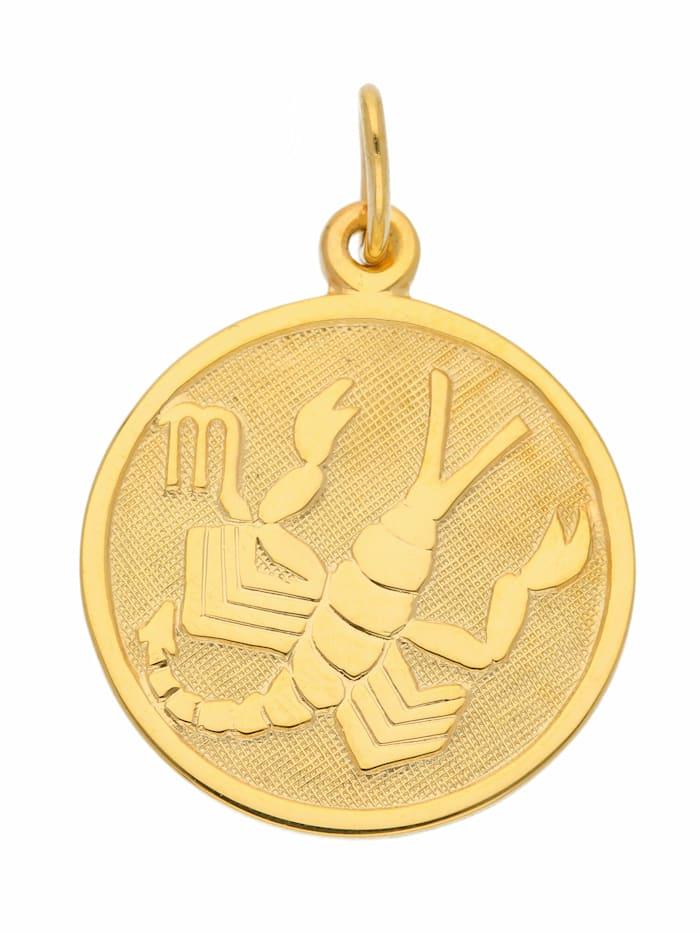 1001 Diamonds 1001 Diamonds Damen & Herren Goldschmuck 333 Gold Sternzeichen Anhänger Skorpion Ø 16 mm, gold