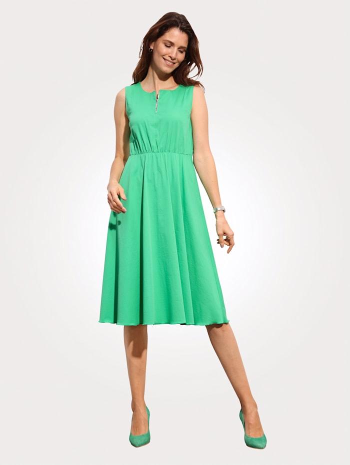 MONA Kleid mit schwingendem Rock, Grün