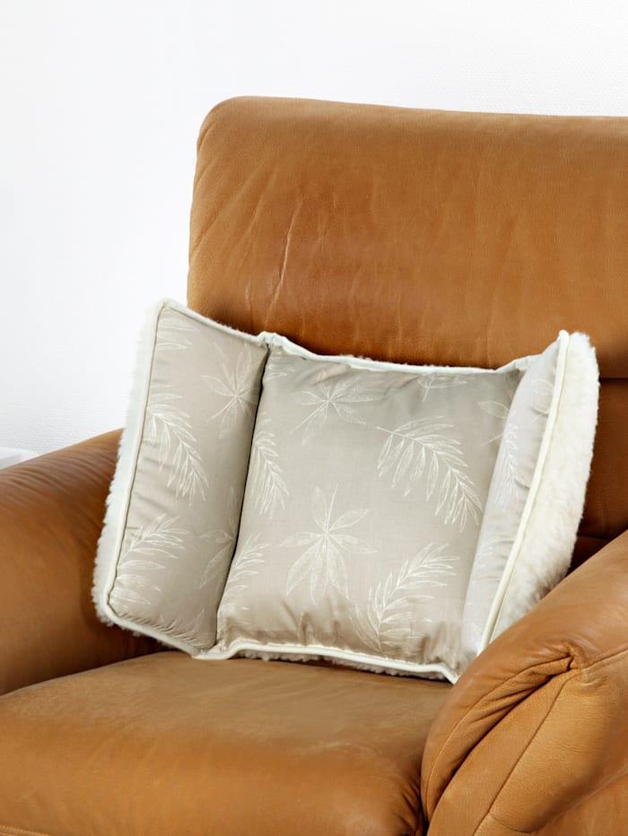 K & N Schurwolle Scheerwollen stoelkussen met 2 kanten, beige