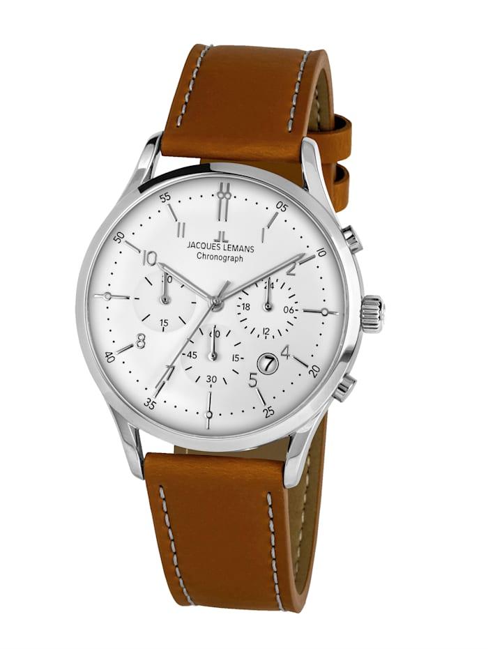 Jacques Lemans Herren-Uhr Chronograph Serie: Retro Classic, Kollektion: Retro Classic: 1- 2068N, Hellbraun