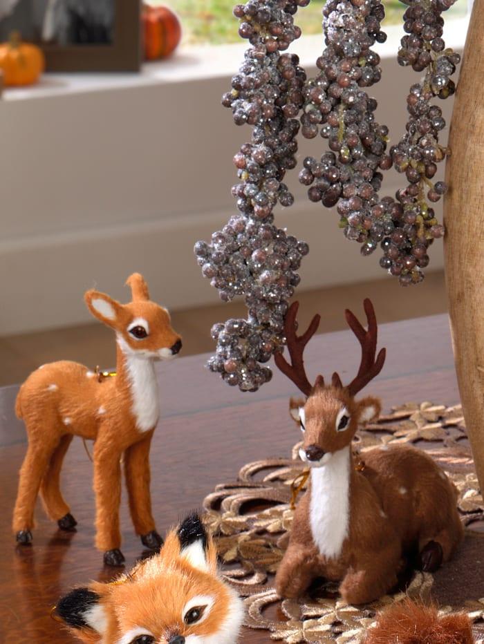 Lot de 2 cerfs décoratifs