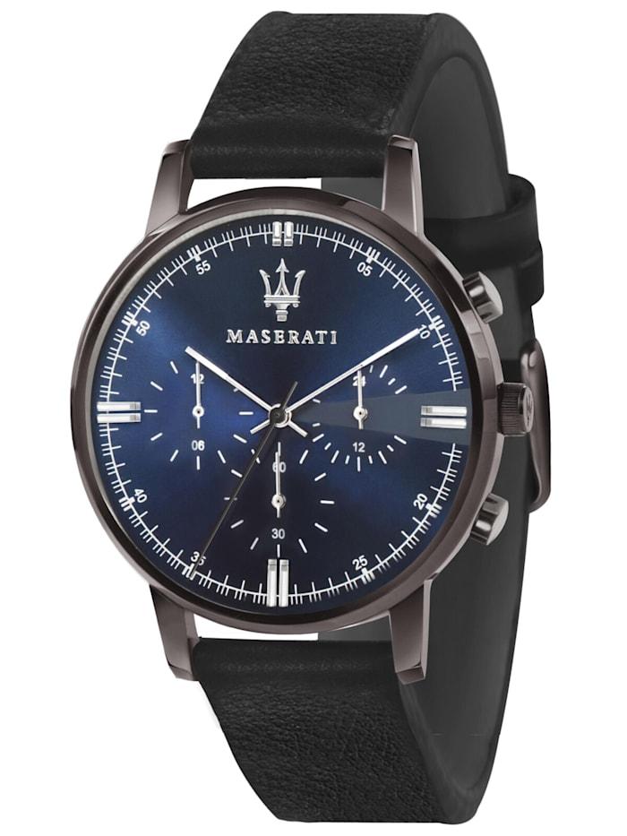 Maserati Herrenuhr Chronograph Eleganza schwarz/blau, Blau