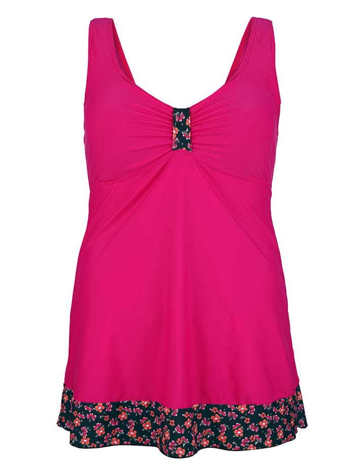 Maritim Badeanzug in figurschmeichelnder Form, Pink