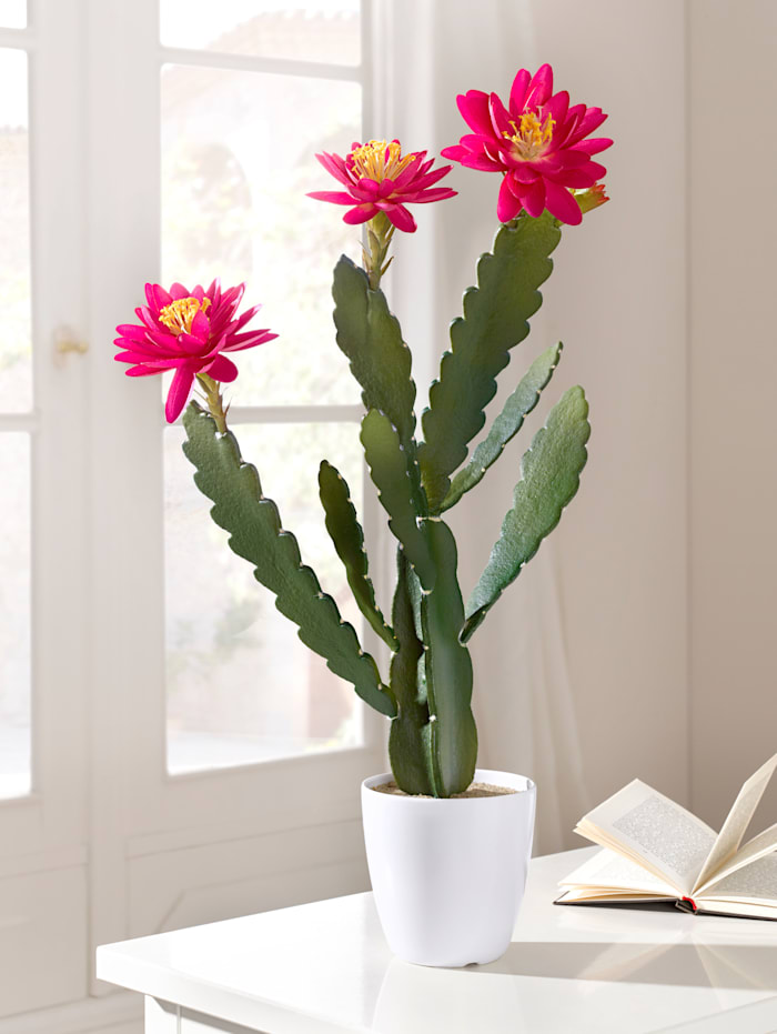 Konstgjord växt – kaktus med blommor
