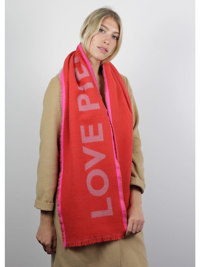 Ultrasofter Oversized-Schal mit Statement-Print