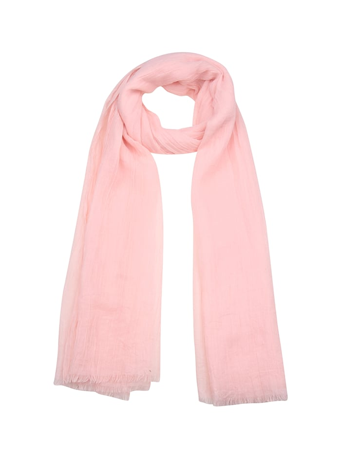 Leslii Schal mit kurzen Fransen, rosa