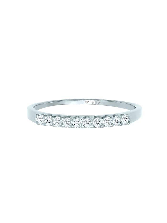 Ring Memoire Verlobung Diamant (0.15 Ct.) 585 Weißgold