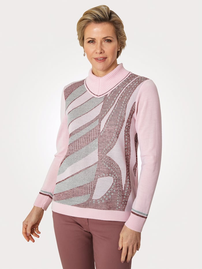 DiStrick Pullover, Rosé/Beere