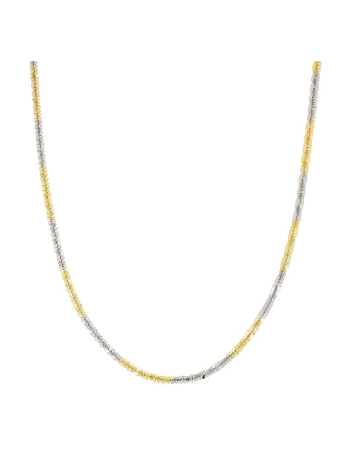 Grazielli Criss-Cross Kette in Silber 925, Gelbgoldfarben