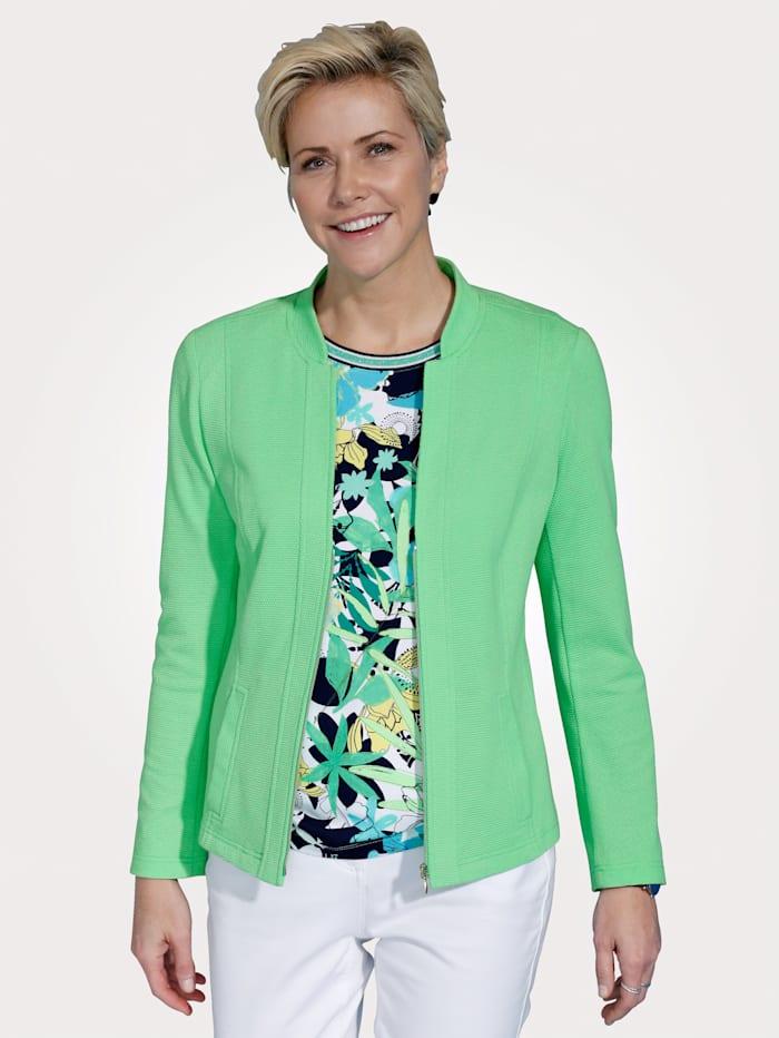 Rabe Lightweight blazer in a textured finish, Green