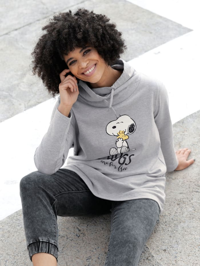 Angel of Style Sweatshirt met Snoopy-print, Lichtgrijs
