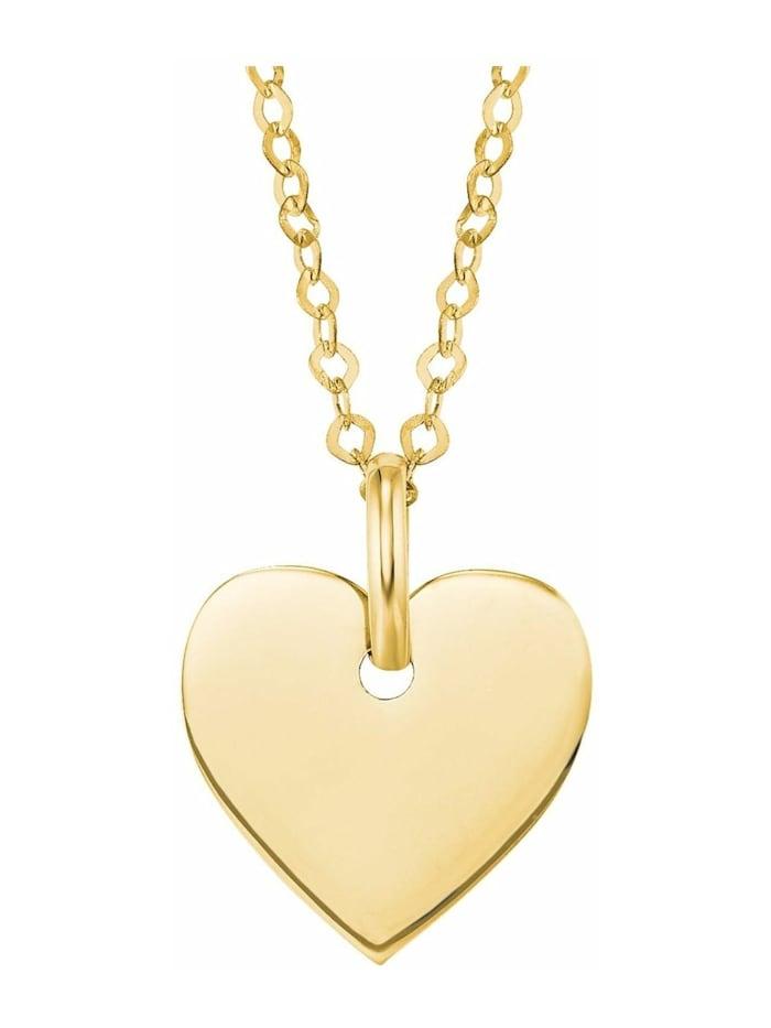 amor Kette mit Anhänger für Damen, Gold 375, Herz, Gold