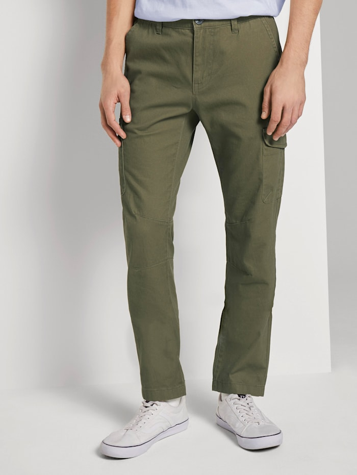 Tom Tailor Denim Slim Cargohose, Dry Greyish Olive
