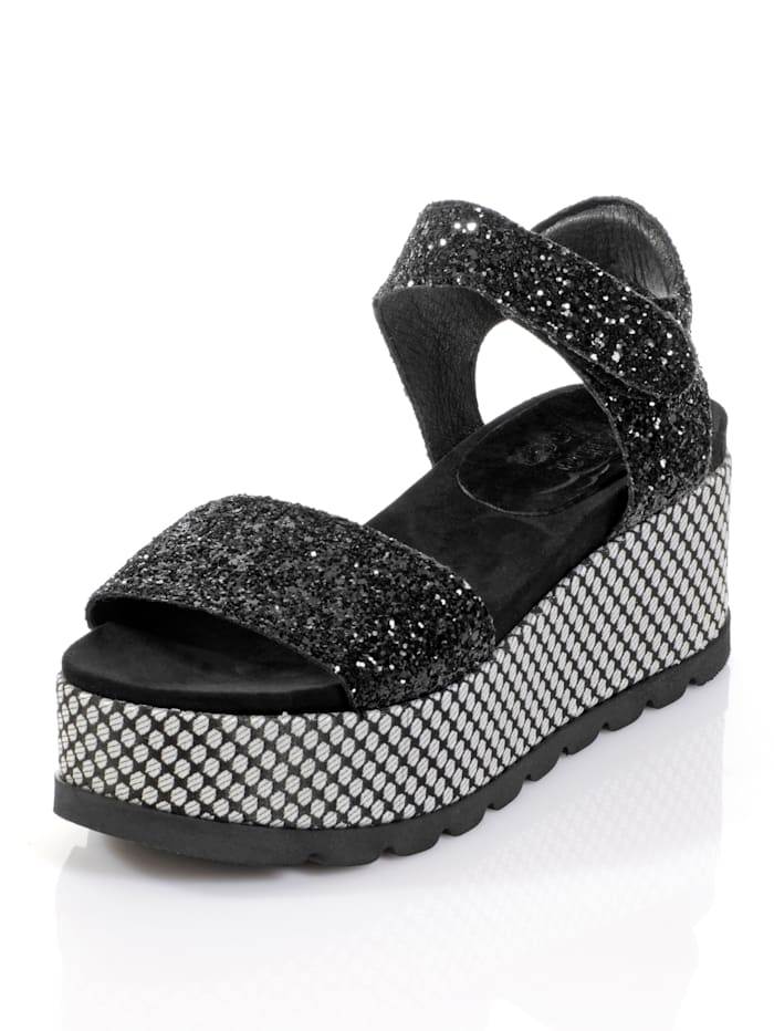 Sandales effet pailleté
