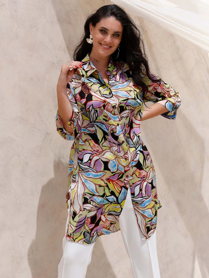 MIAMODA Blouse in satijnlook, Multicolor